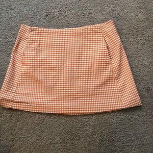 Urban Outfitters orange gingham skirt